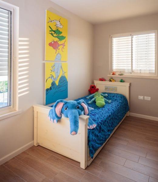 חדר ילד מעוצב בסגנון כפרי, עיצוב שרי בר-נע גבעון light-design