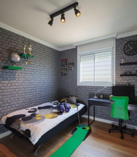 חדר שינה מעוצב לנער, עיצוב שרי בר-נע גבעון light-design