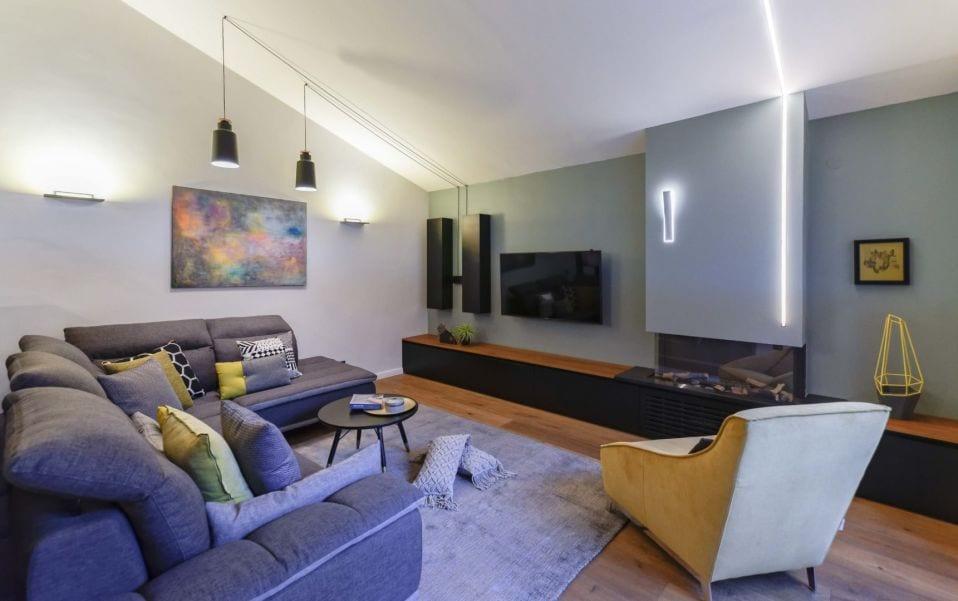 סלון מעוצב, עיצוב שרי בר-נע גבעון light-design