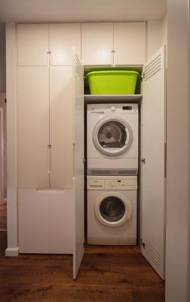 ארון מכונת כביסה ומייבש, עיצוב שרי בר-נע גבעון light-design