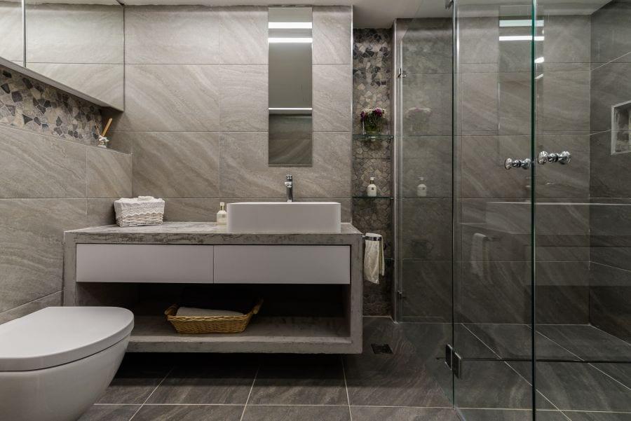 חדר רחצה מעוצב, עיצוב שרי בר-נע גבעון light-design