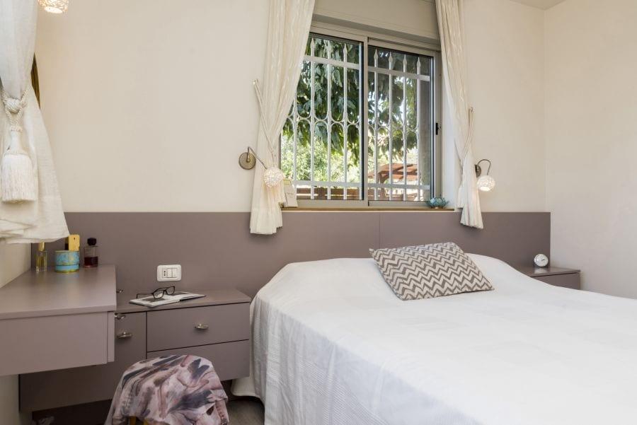 חדר שינה מעוצב, עיצוב שרי בר-נע גבעון light-design