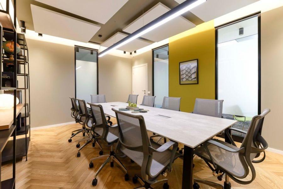 משרד עורכי דין חדר ישיבות, עיצוב שרי בר-נע גבעון light-design