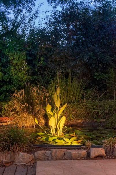 תאורת גינה חצר בית ברעות שרי בר-נע גבעון light-design