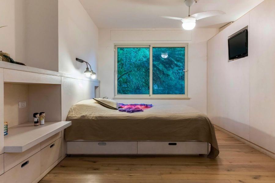 חדר שינה הורים, בית ברעות שרי בר-נע גבעון light-design