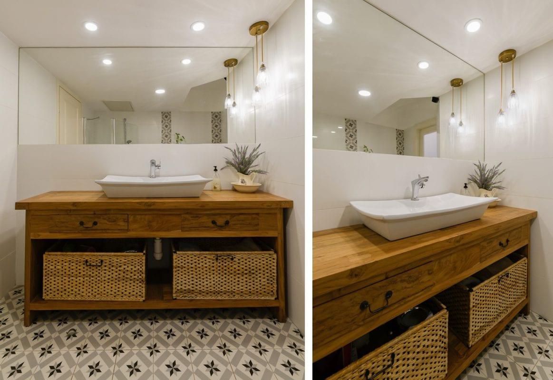 תאורה מעל המראה באמבטיה, תכנון ועיצוב תאורה שרי בר-נע גבעון