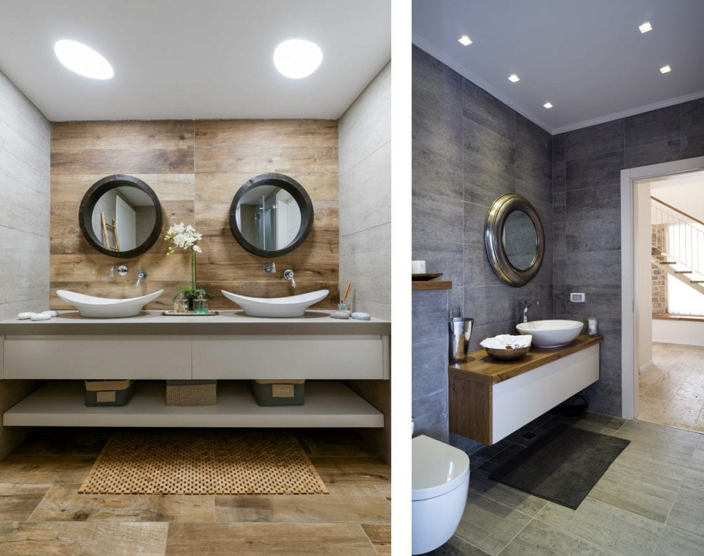 תאורה שקועה בחדרי רחצה, תכנון ועיצוב תאורה שרי בר-נע גבעון
