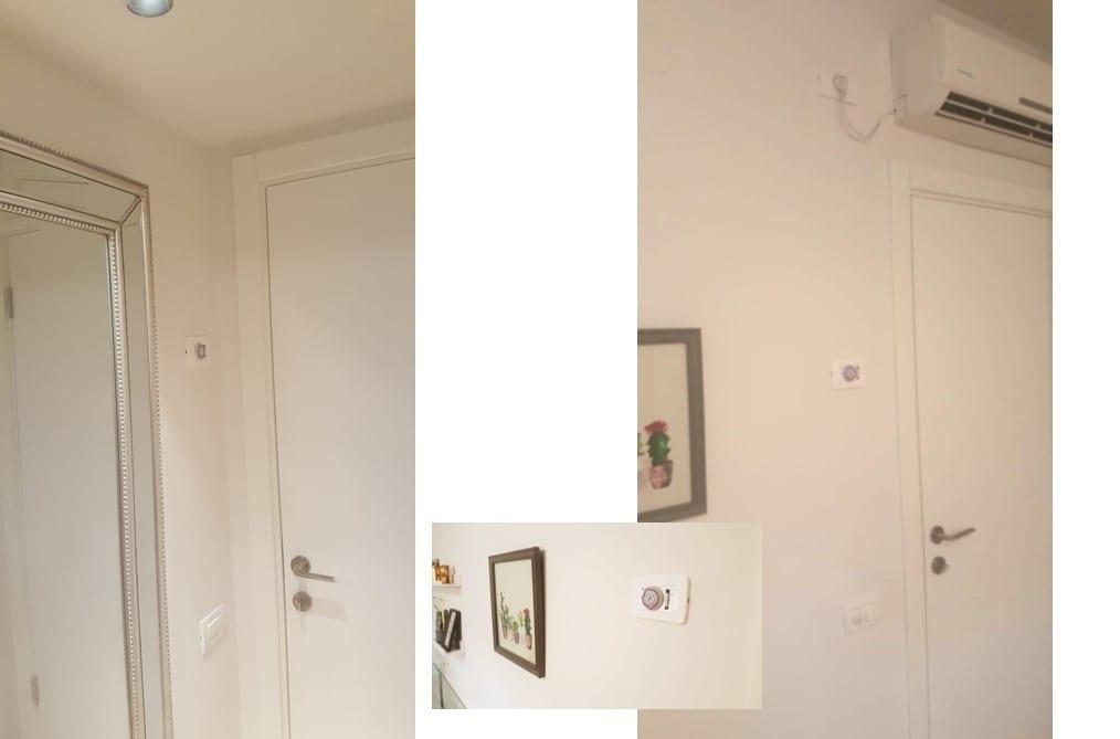 """שעוני שבת למזגן עילי בכל חדר בגובה העיניים, מאפשר להאריך את פעילותו ע""""י שינוי גלגל השיניים ללא חילול שבת"""