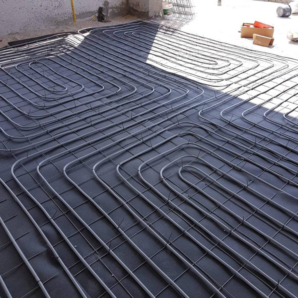 תשתית צנרת מים למערכת חימום תת רצפתית