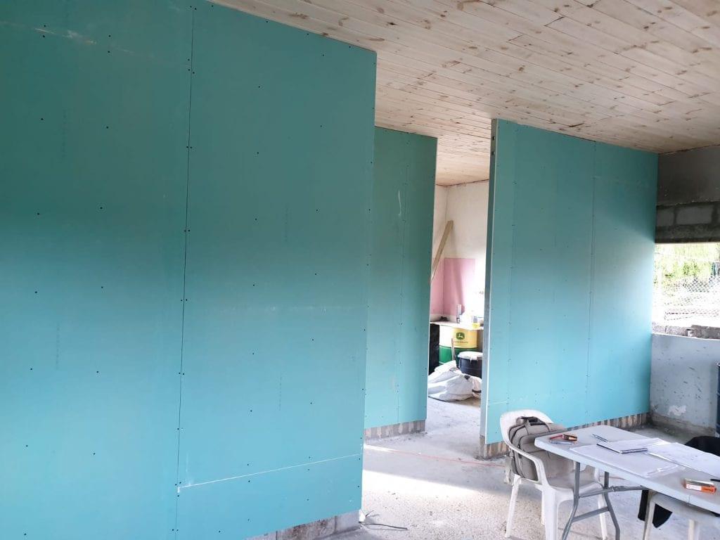 קירות פנים שימוש בגבס ירוק